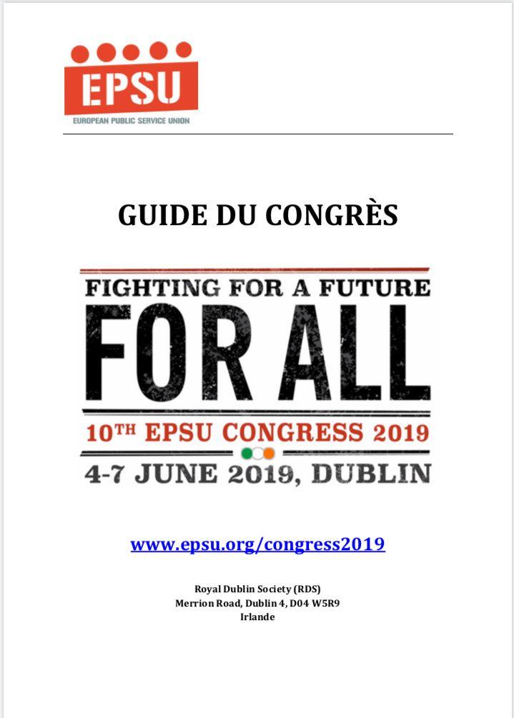 La CGT Korian sera présente au congrès de l'EPSU du 4 au 7 juin à Dublin en Irlande.