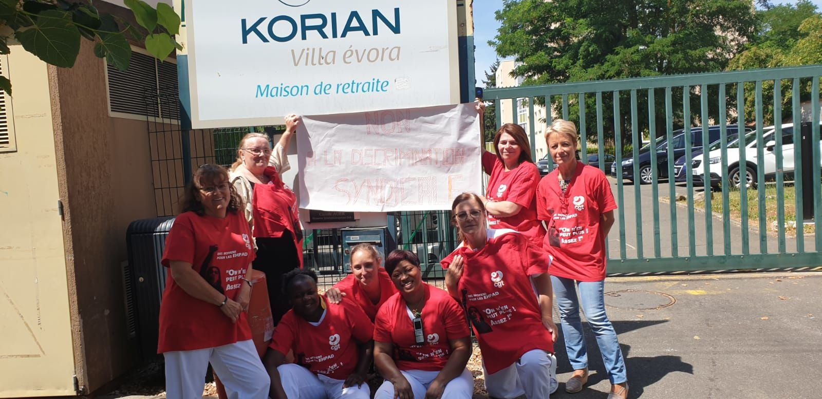 Mobilisation du 9 juillet de la cgt Korian contre les discriminations syndicales de nos militant.es.