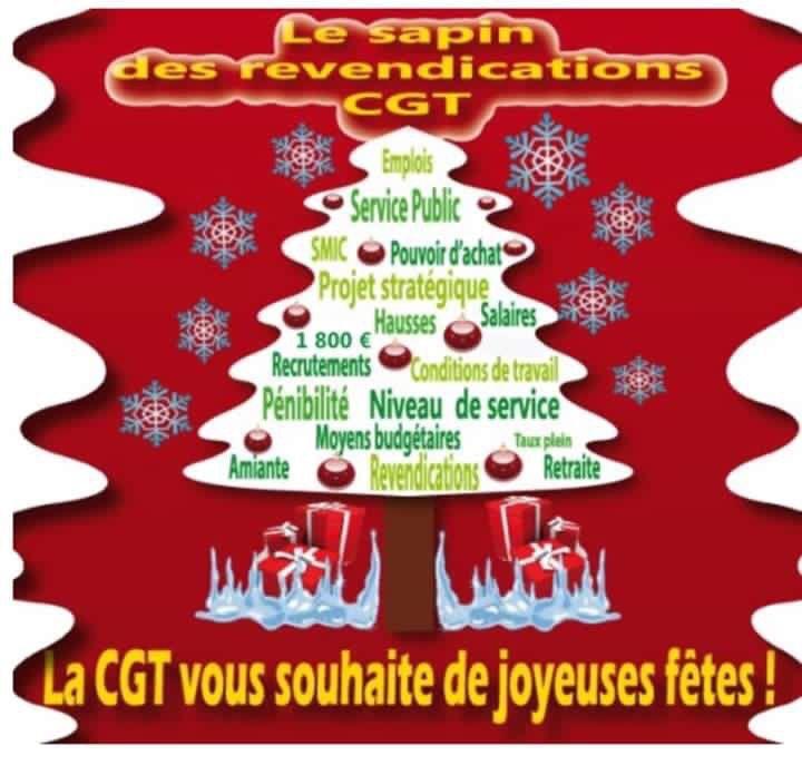 La CGT Korian vous souhaite de bonnes fêtes de Noël !