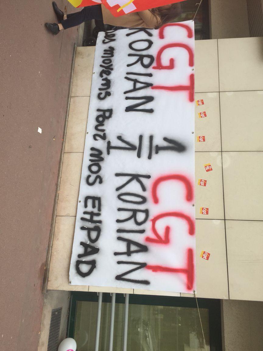 La CGT Korian en action(1).