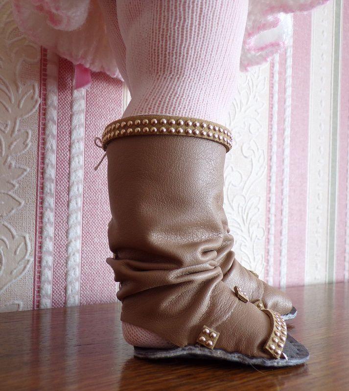 tuto gratuit poupée taille réelle: bottes  à la mode ; défi de Dane