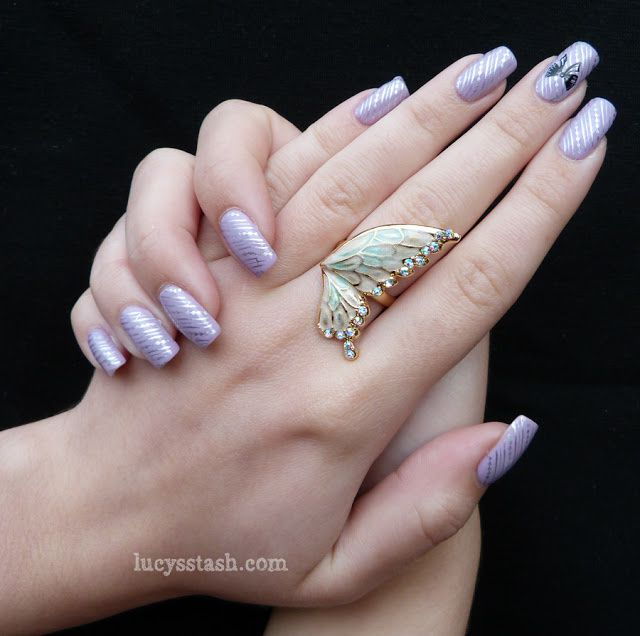 Essie and A England Bow nail art manicure