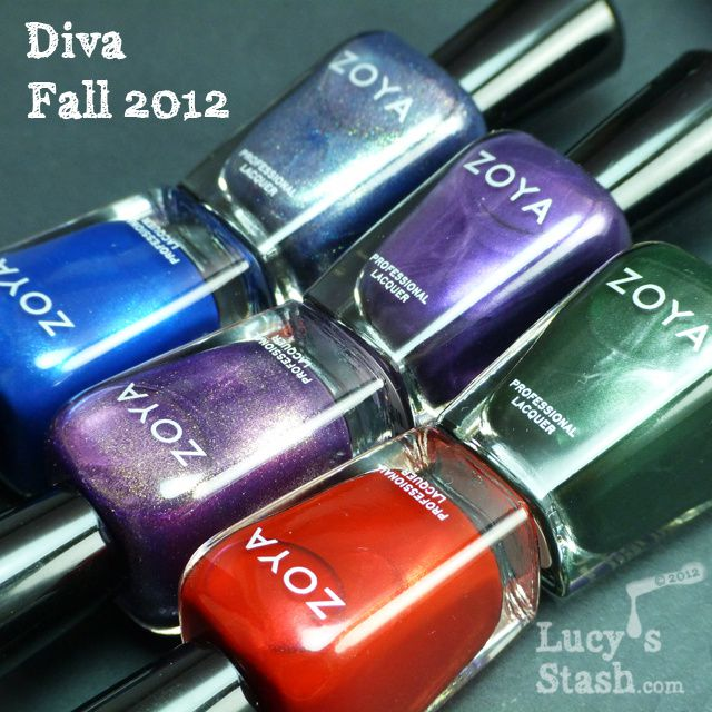 Lucy's Stash - Zoya Diva Collection for Fall 2012