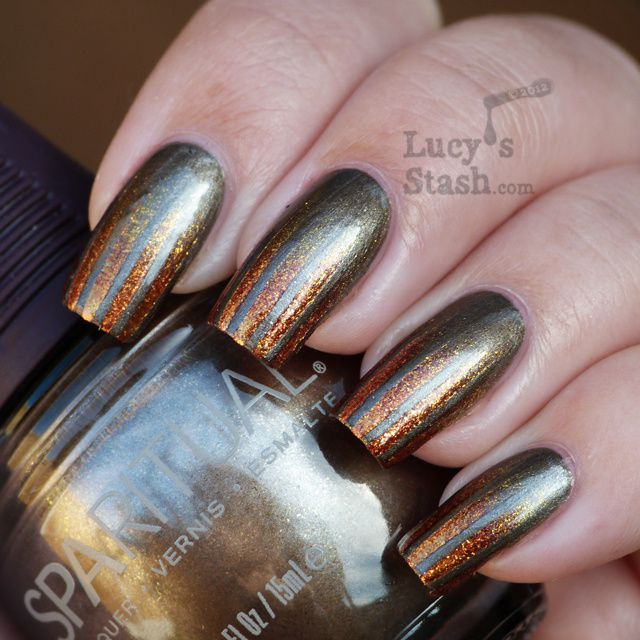 Lucy's Stash - gradient tape stripes manicure