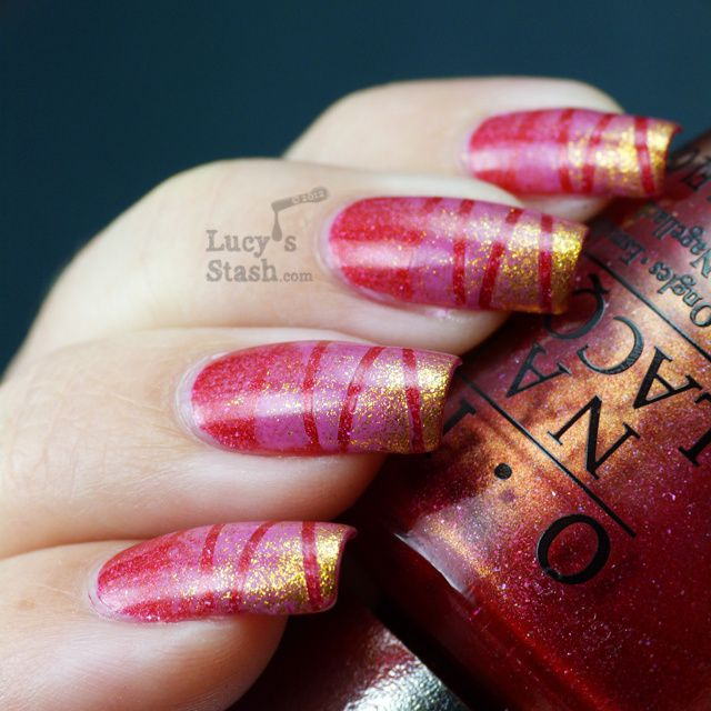 Lucy's Stash - Sponging & tape manicure with OPI and SpaRitual