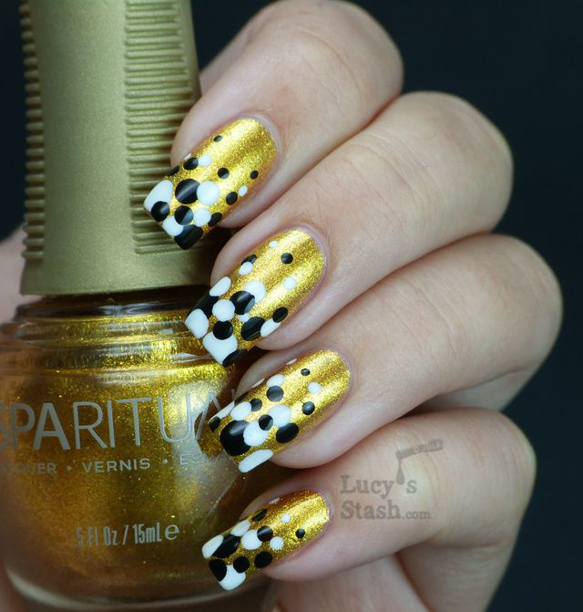 Lucy's Stash - Gold Gradient Dots manicure