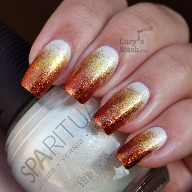 Lucy's Stash - Gradient nails with SpaRitual shades