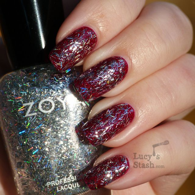 Lucy's Stash - Zoya Electra over Blaze from Ornate collection