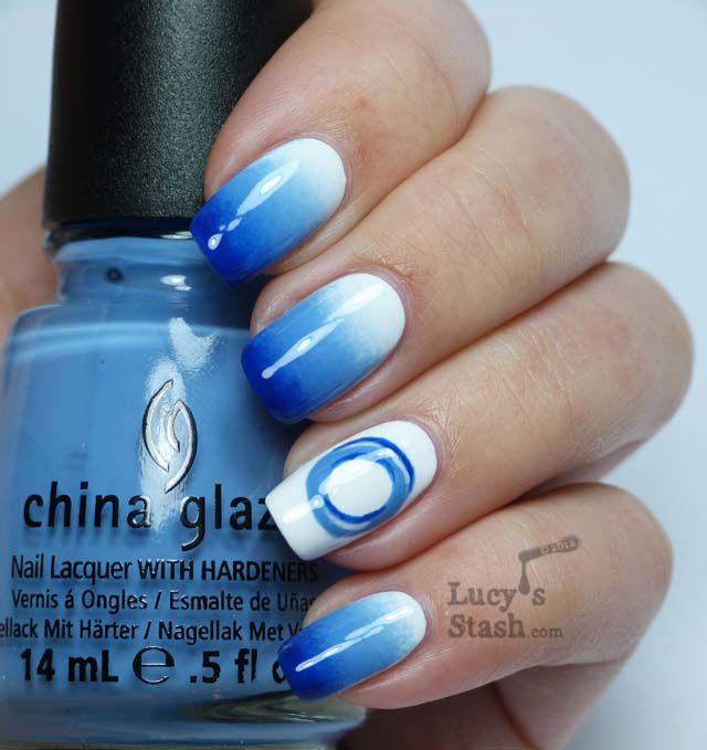 Lucy's Stash - Blue manicure for the World Diabetes Day