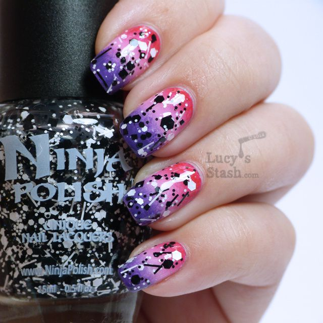 Lucy's Stash - Girly gradient with Sticks 'n Stones glitter topcoat