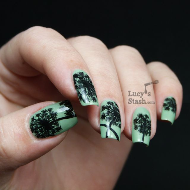 Lucy's Stash - Dandelions nail art