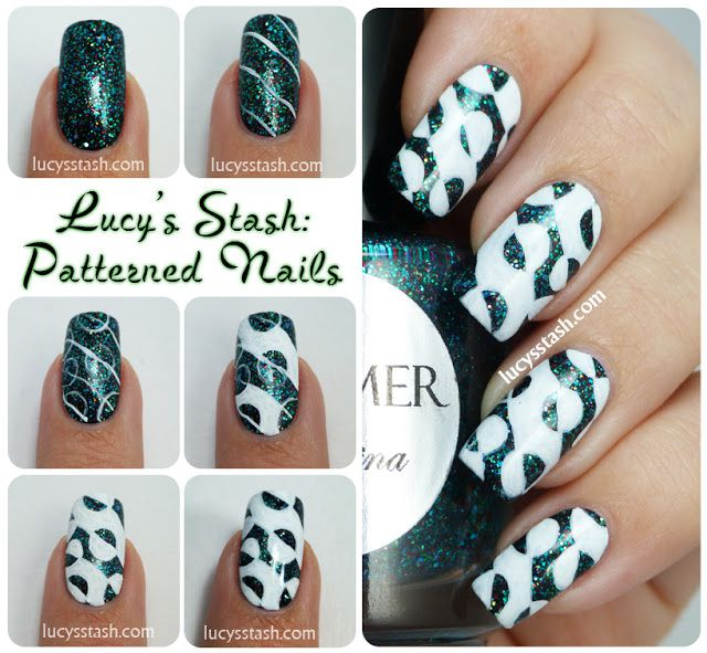 Lucy's Stash - Patterned nails tutorial