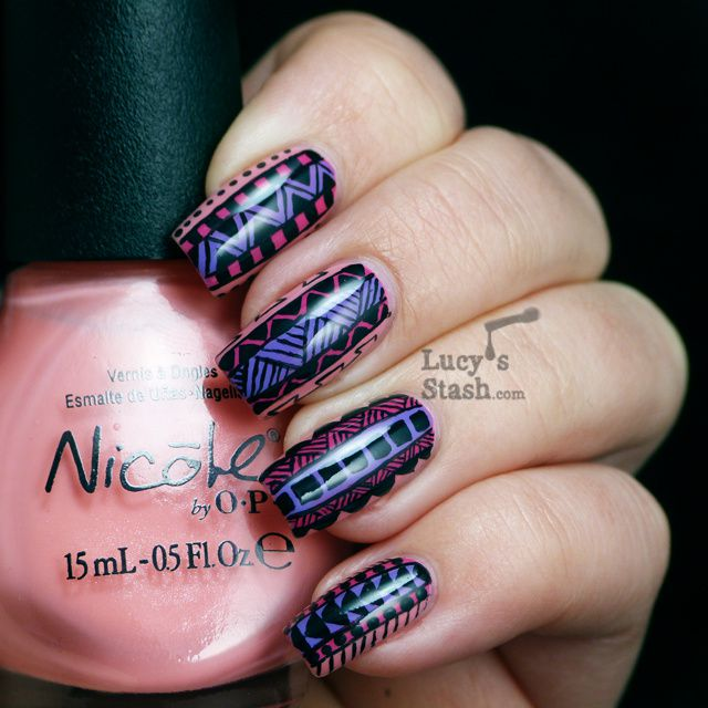 Lucy's Stash - Tribal Print Nail Art