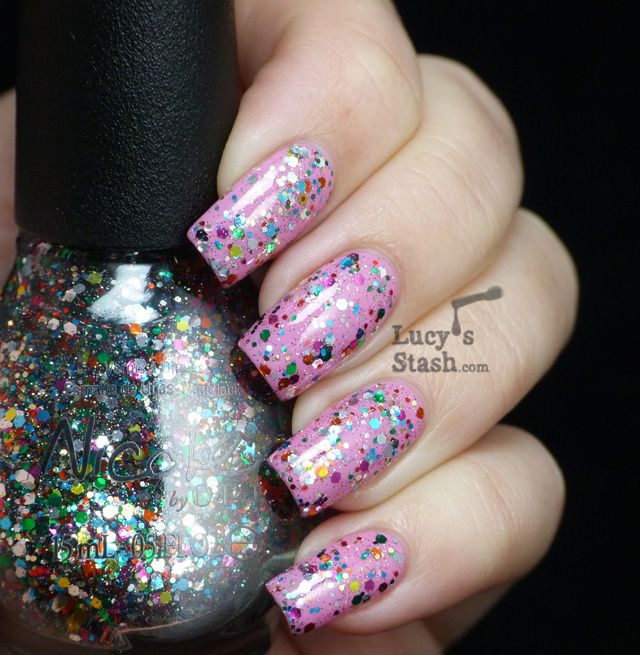 Lucy's Stash - Nicole By OPI Confetti Fun over Naturally