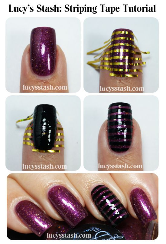 Lucy's Stash - Striping tape tutorial
