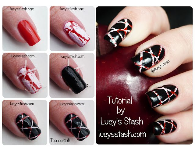 Lucy's Stash - Marbled tape nail art tutorial