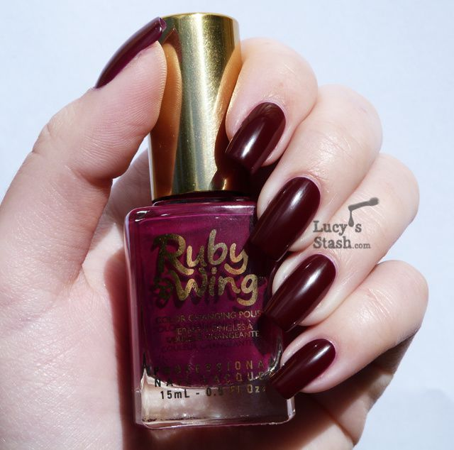Lucy's Stash - Ruby Wing Colour Changing Nail polish in Poppy