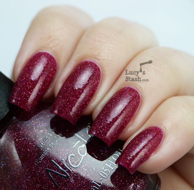 Lucy's Stash - Nicole by OPI My Cherry Amour with topcoat