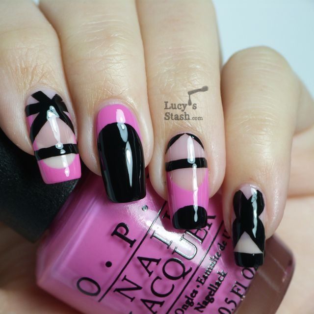 Lucy's Stash: Dress inspired nail art design