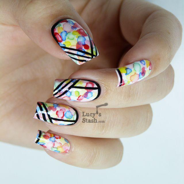 Lucy's Stash: Watercolour/aquarelle nail art