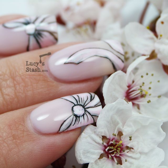 Lucy's Stash - Pink Bow Nail Art with Tutorial