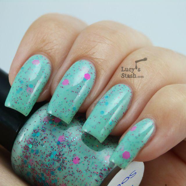 Lucy's Stash - Pea Soup nail polish