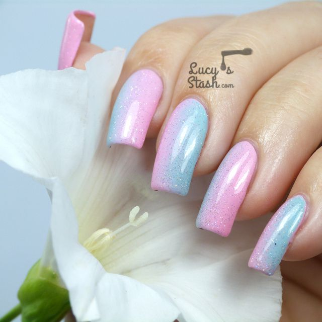 Pastel gradient with a touch of Fairy Dust