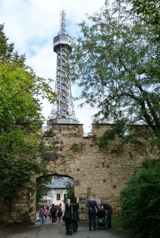 Petrin tower & view of Prague