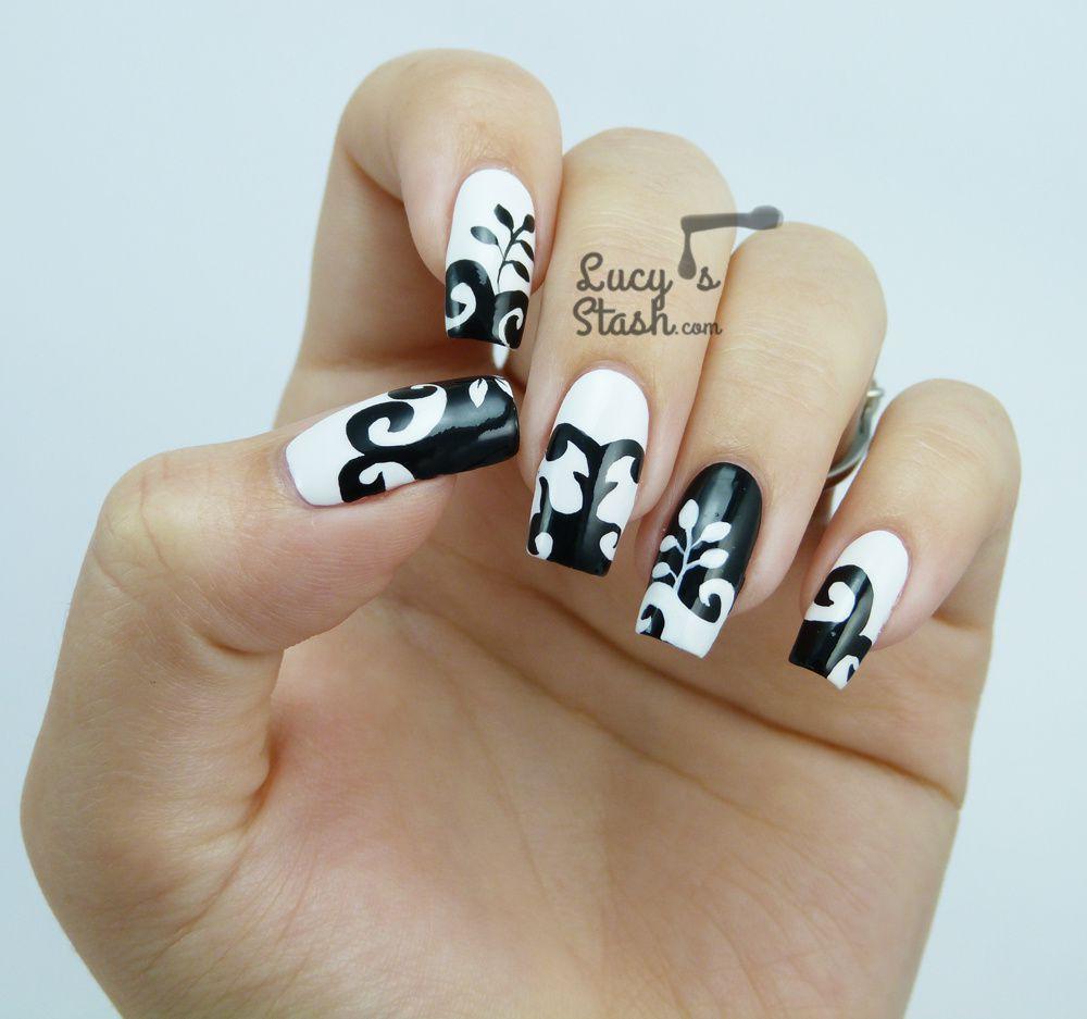 Black & White Dress Inspired Nail Art from Cosmopolitan Blog Awards