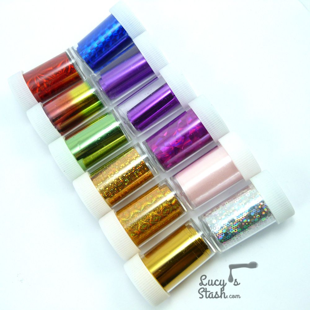 Nail Foil nail art design with Tmart nail foils