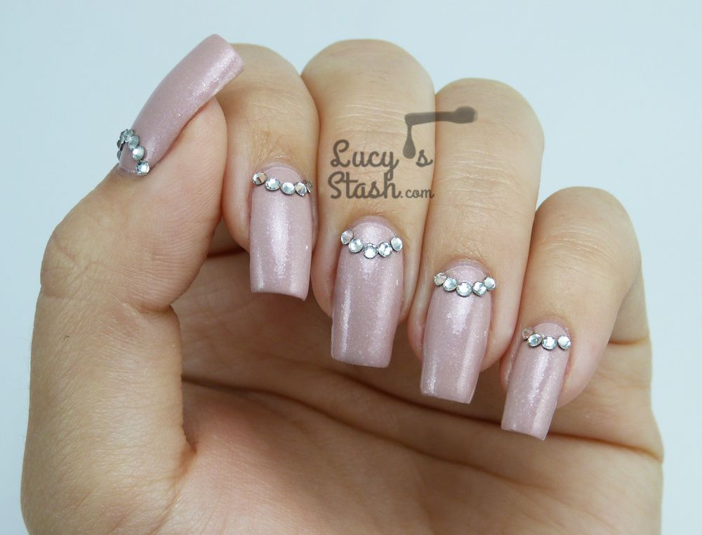 Crystal Half-moons & Illamasqua Pink Raindrops for Breast Cancer Awareness Month
