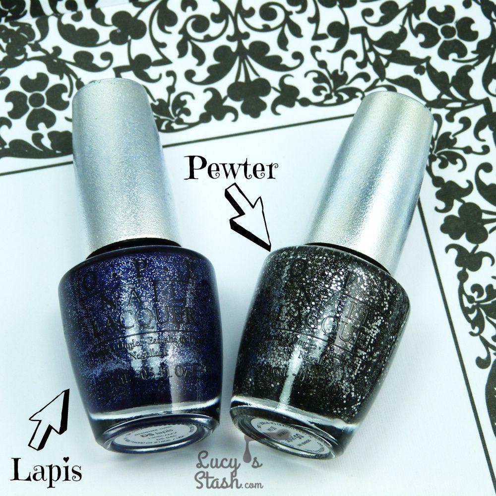 OPI Designer Series Lapis & Pewter - Review & Swatches