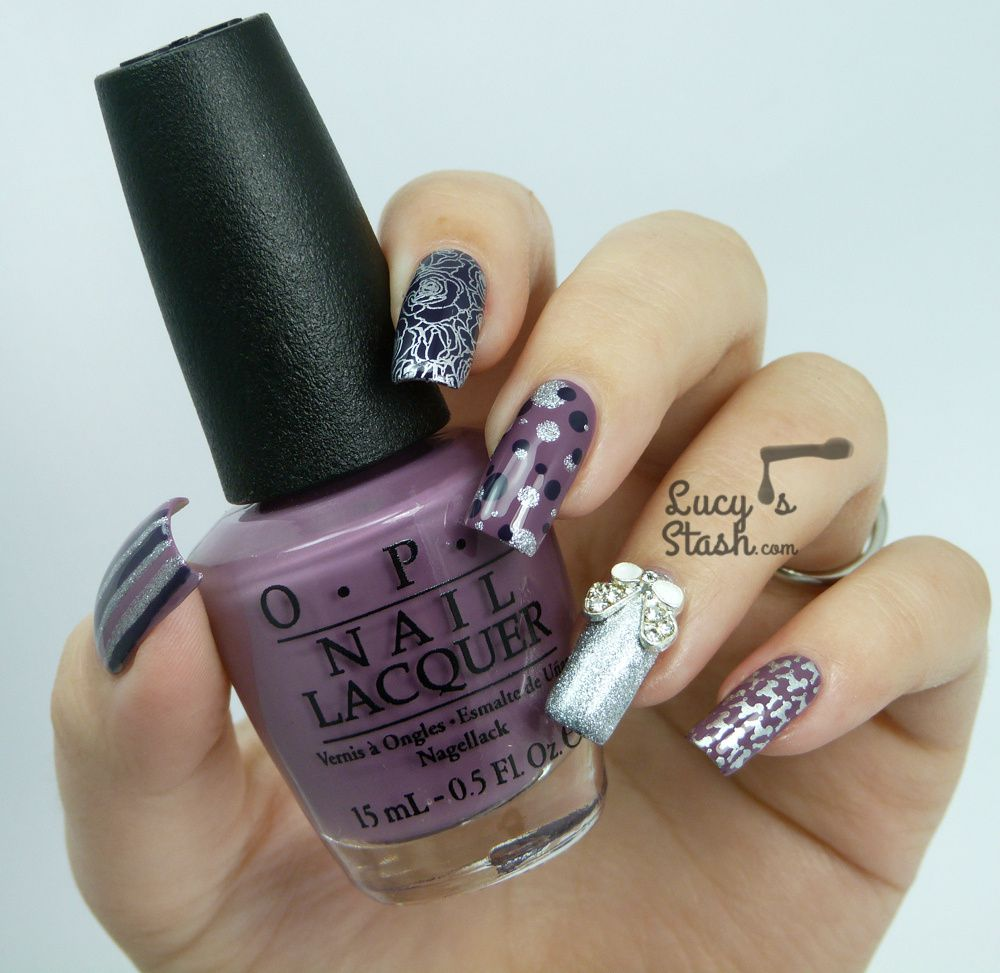 Skittle Nailart with OPI Miss Universe 2013 Collection