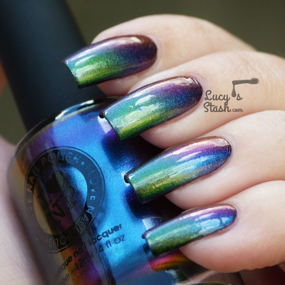 Multichrome Gradient feat. I Love Nail Polish Birefringence and Mutagen (Ultra Chrome collection)