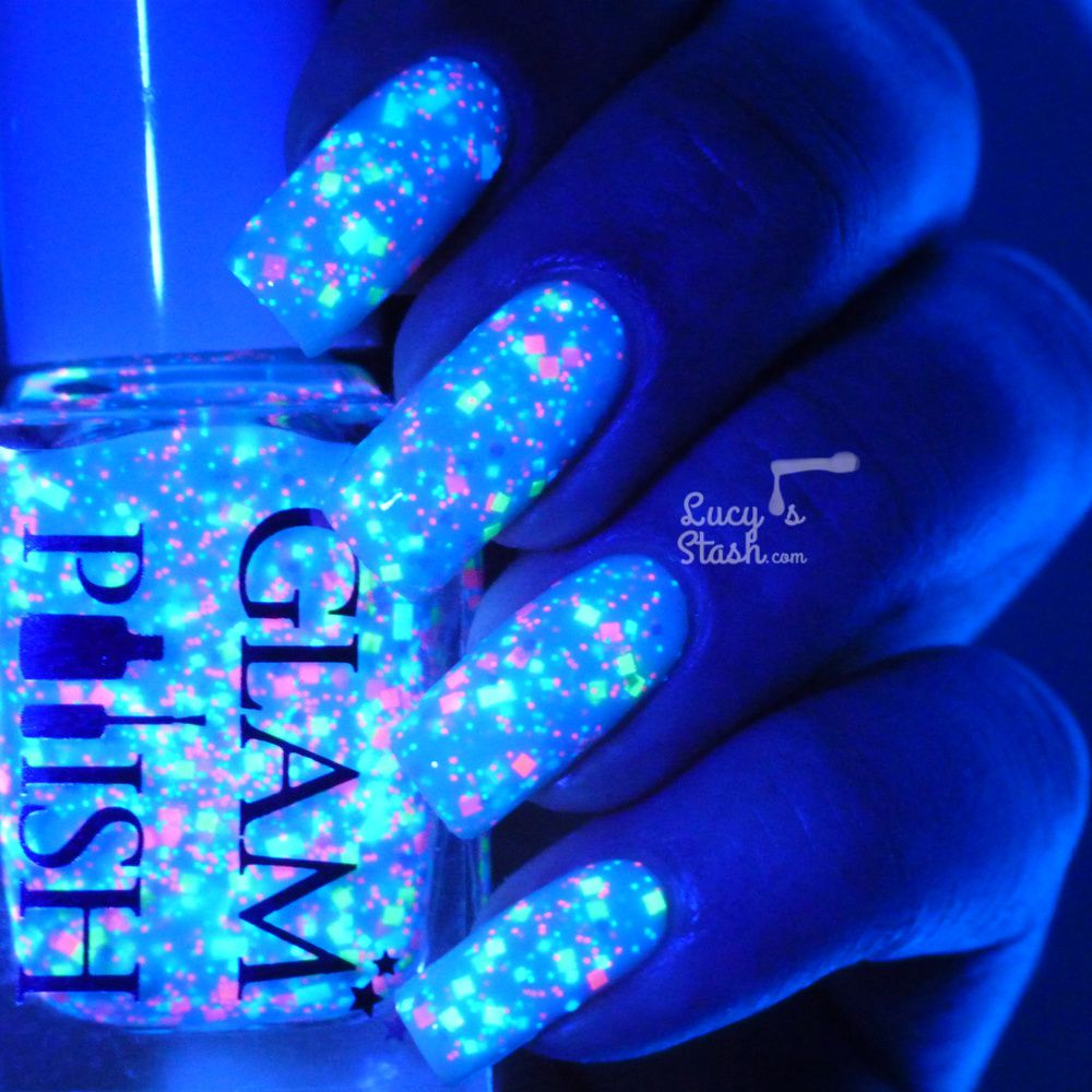 Glam Polish Blue Goo, Fern Gully and Funhouse! - Review and swatches