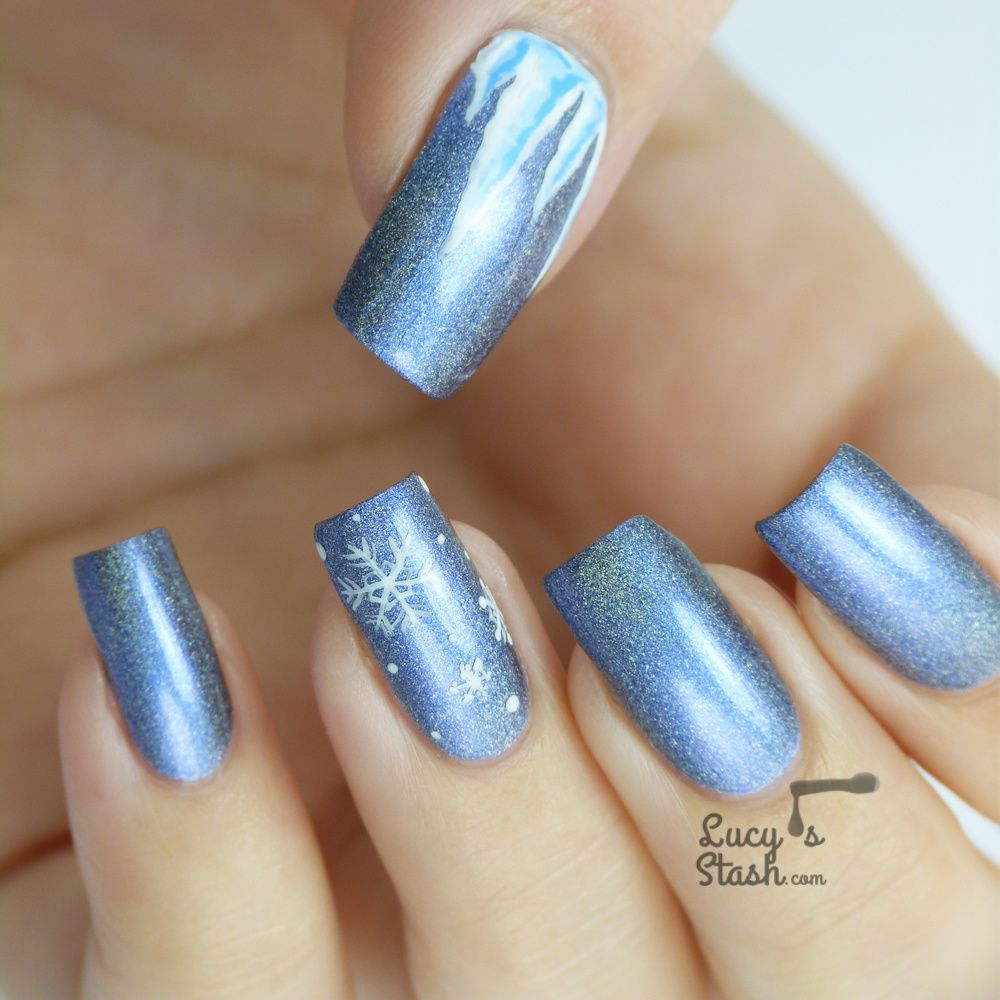 Icicles Nail Art with Video Tutorial