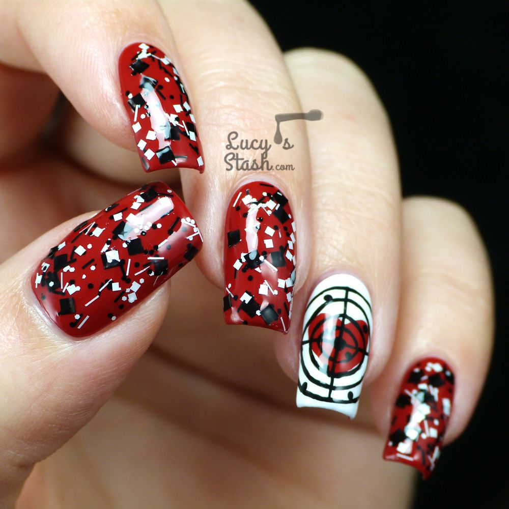 'Target My Heart' Valentine's Day Nail Design