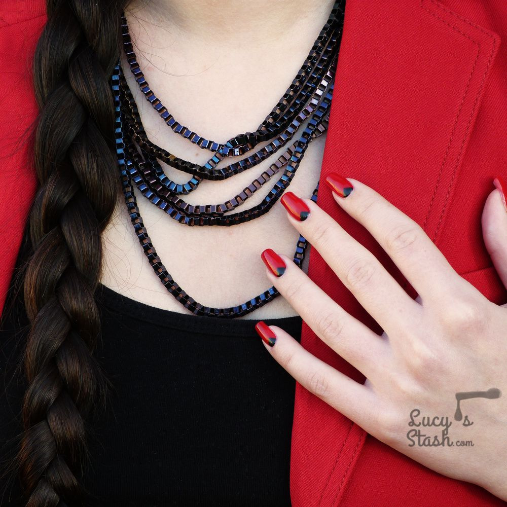 Chic in Red | Simple Chevron Design with OPI