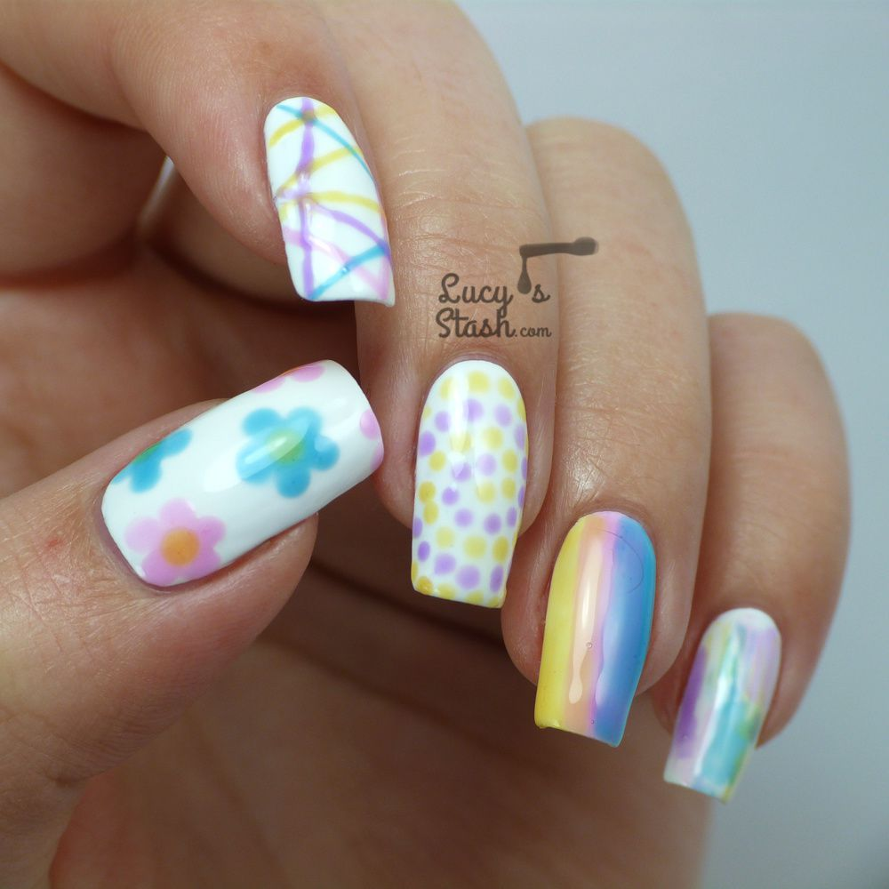 10 Nail Art Ideas with OPI Sheer Tints - Part 2 + TUTORIAL