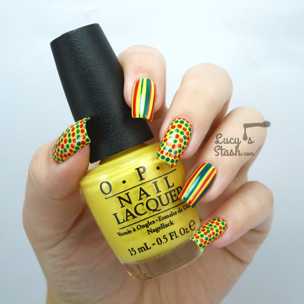 Bring on the summer! Fun nail art design with OPI Brazil