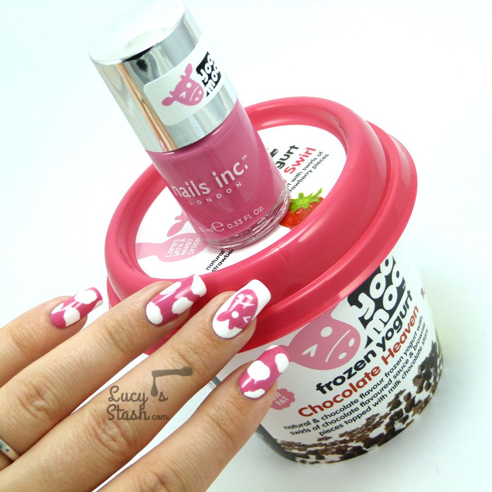 Cute yoomoo cow nail art design with tutorial + GIVEAWAY