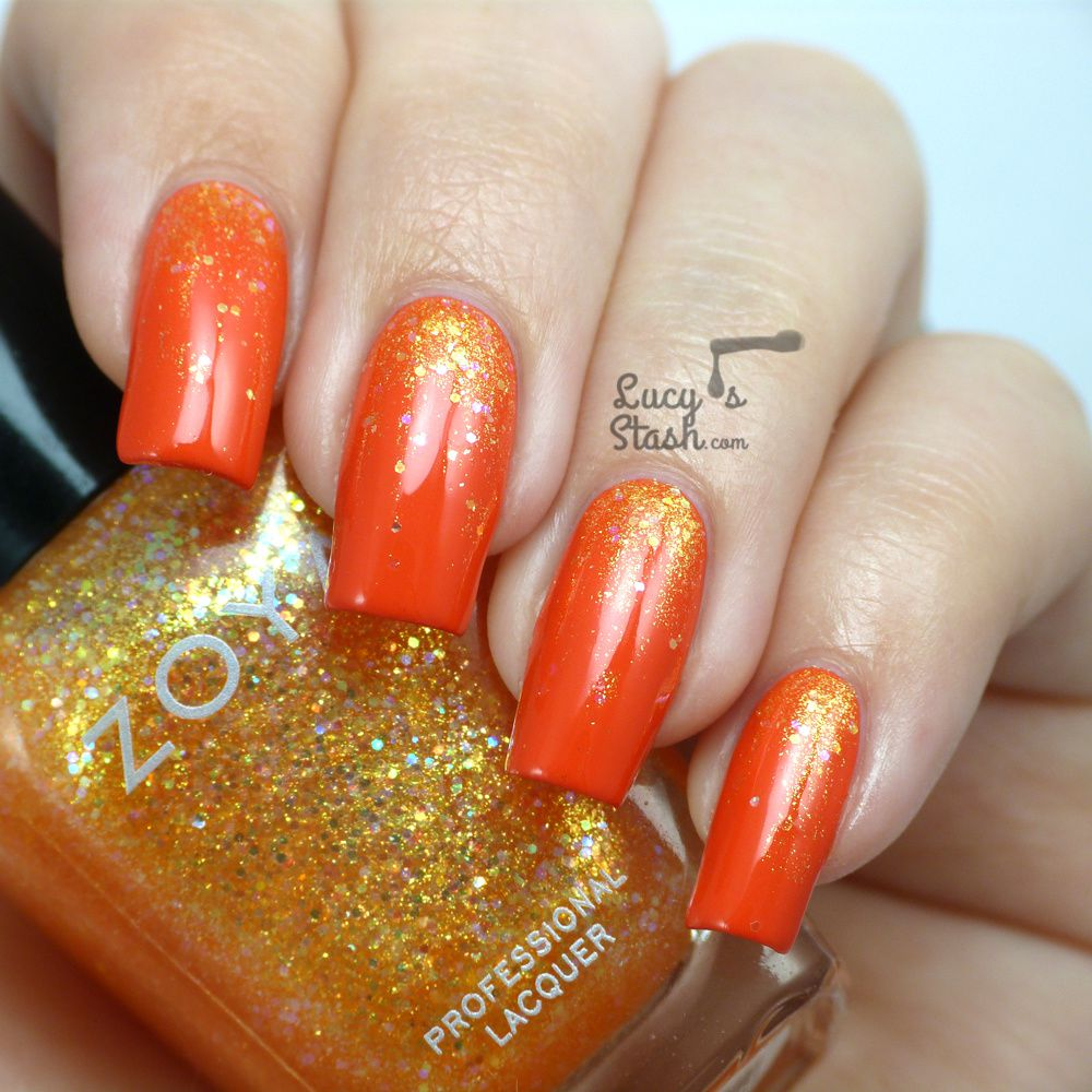 Juicy Glitter Gradient with Zoya Tickled & Bubbly