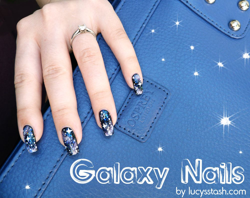 Classic Galaxy Nails (with a bit of sparkle) + TUTORIAL