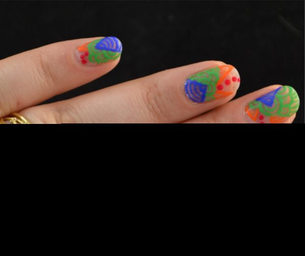 The Dalai Lama's Nails for Lucy's Stash - Colourful Doodling | Guest post
