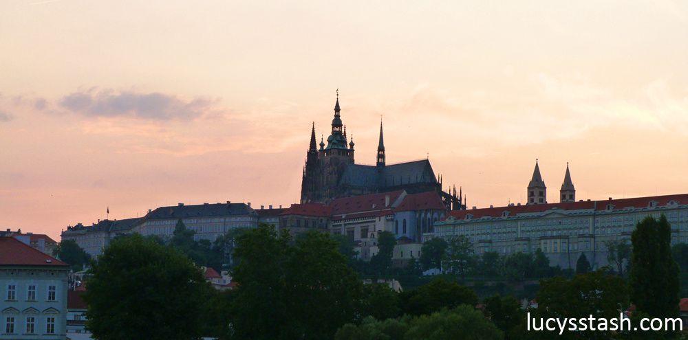 View of Prague Castle & River Vltava