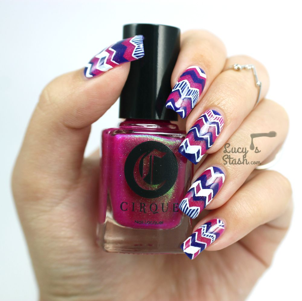 Hugs for Emily | Chevron Nail Art with Tutorial