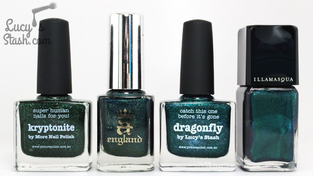 COMPARISON of piCture pOlish Dragonfly by Lucy's Stash