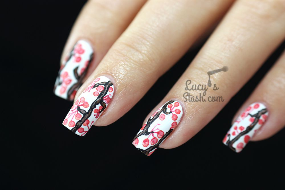 Winter Berry Nails | Inspired By Artwork