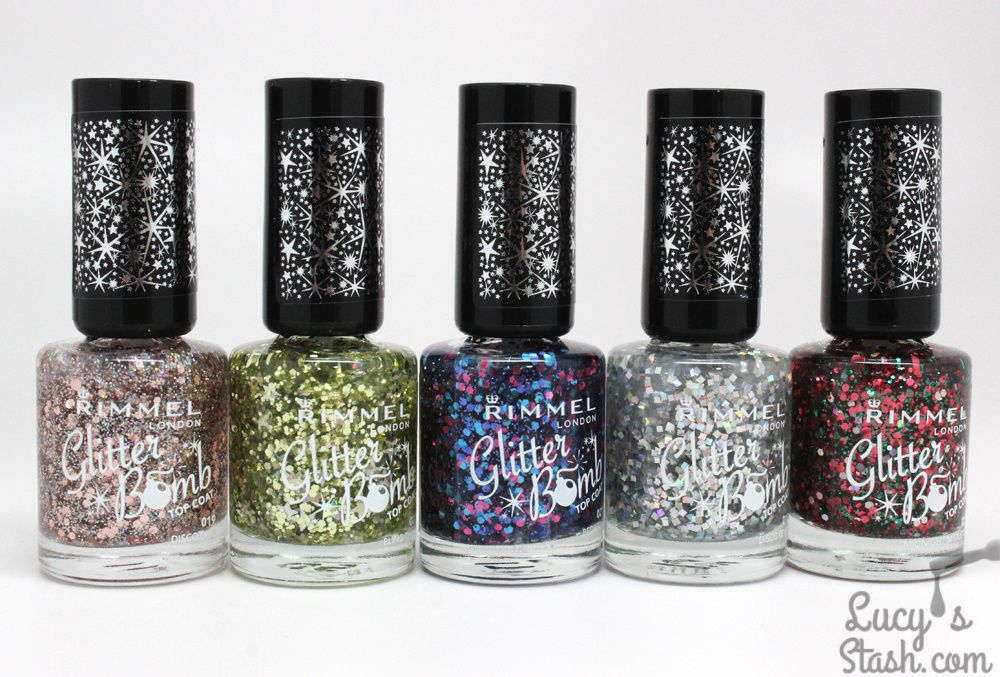 Rimmel Glitter Bomb Toppers - Review & Swatches