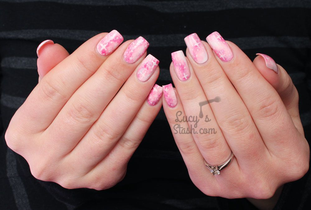 Pastel Pink Galaxy Nails TUTORIAL with The Body Shop! + Report From The Videoshoot